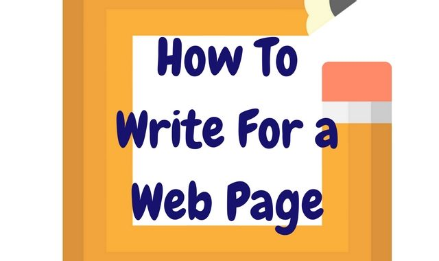 How To Write For A Webpage
