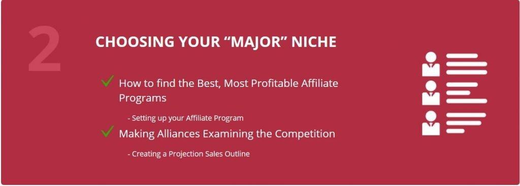 AffiliateU Module 2 Choosing Your Major