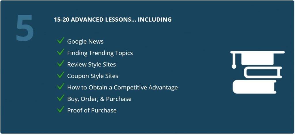 AffiliateU Module 5 Advanced Classes