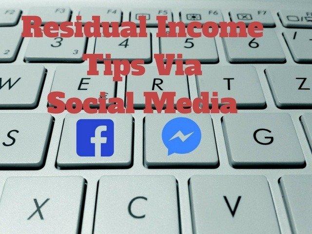 Residual Income Via Social Media