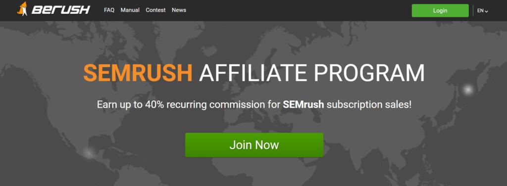 SEMRush BeRush High Paying Affiliate Program Join