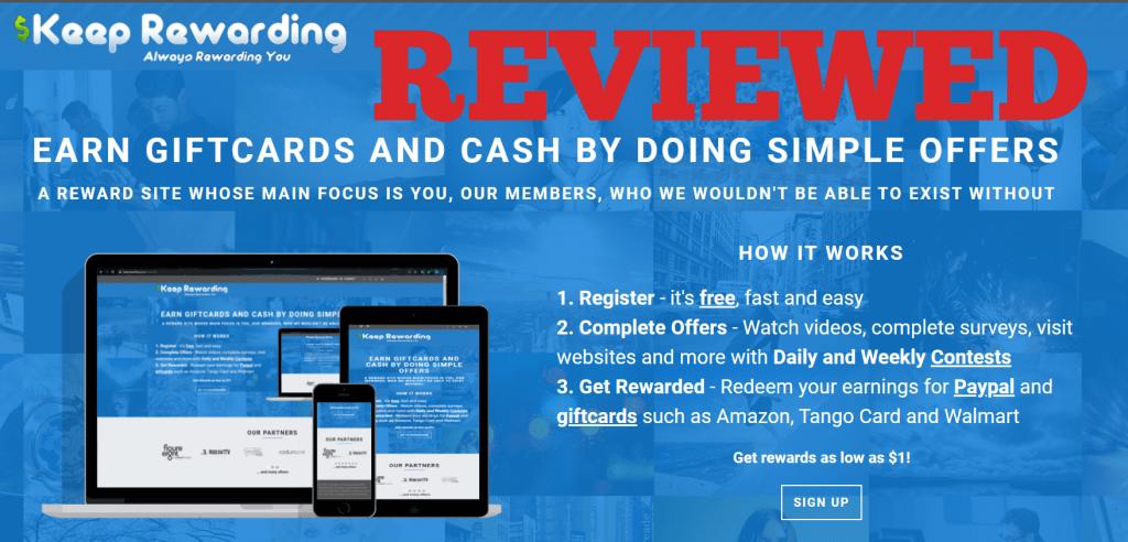 Keep Rewarding Program Review Earn Gift Cards