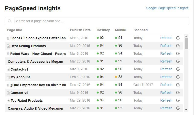 Wealthy Affiliate PageSpeed Insights