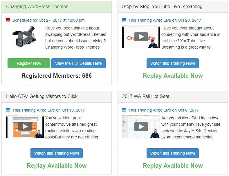 Wealthy Affiliate Review Live Webinars