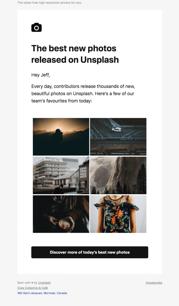 How To Create Newsletters That People Actually Read case study Unsplash