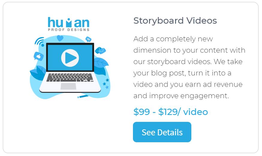 Human Proof Designs Storyboard Videos